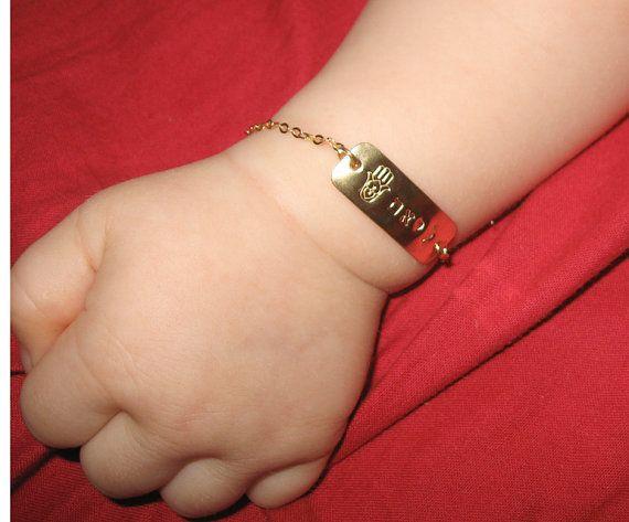 Gold Hamsa Baby Bracelet Jewelry