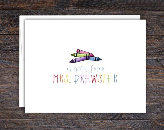 crayon stationery personalized stationery