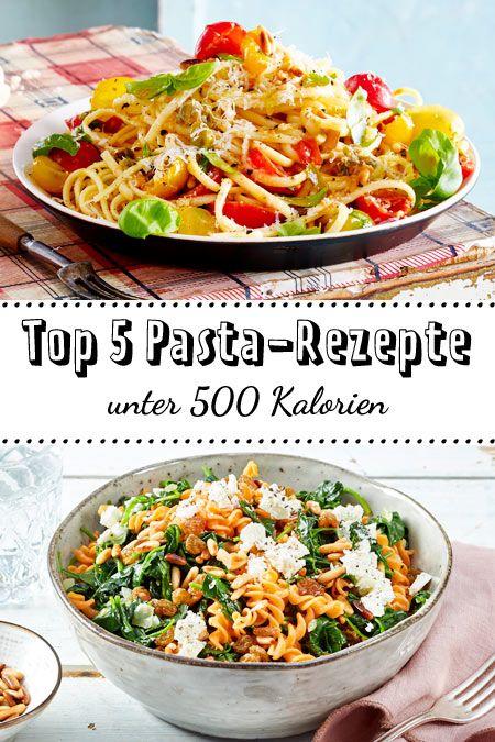 Ab heute brauchst du nicht mehr auf dein Lieblingsessen verzichten: Wir stellen dir unsere Top 5 Pasta-Rezepte unter 500 Kalorien vor - die sind so lecker und leicht! #top5 #pastarezepte #kalorienarm #lecker