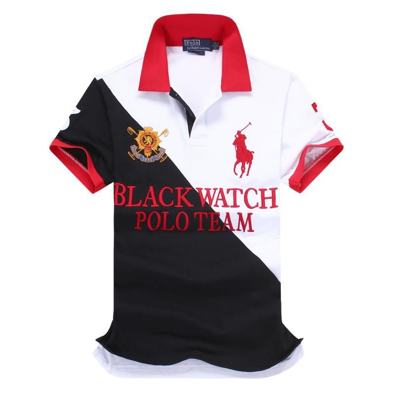 Ralph Lauren RL Polo Shirt Men Clothing Solid Mens Polo Shirts Business  Casual Polo shirt Cotton