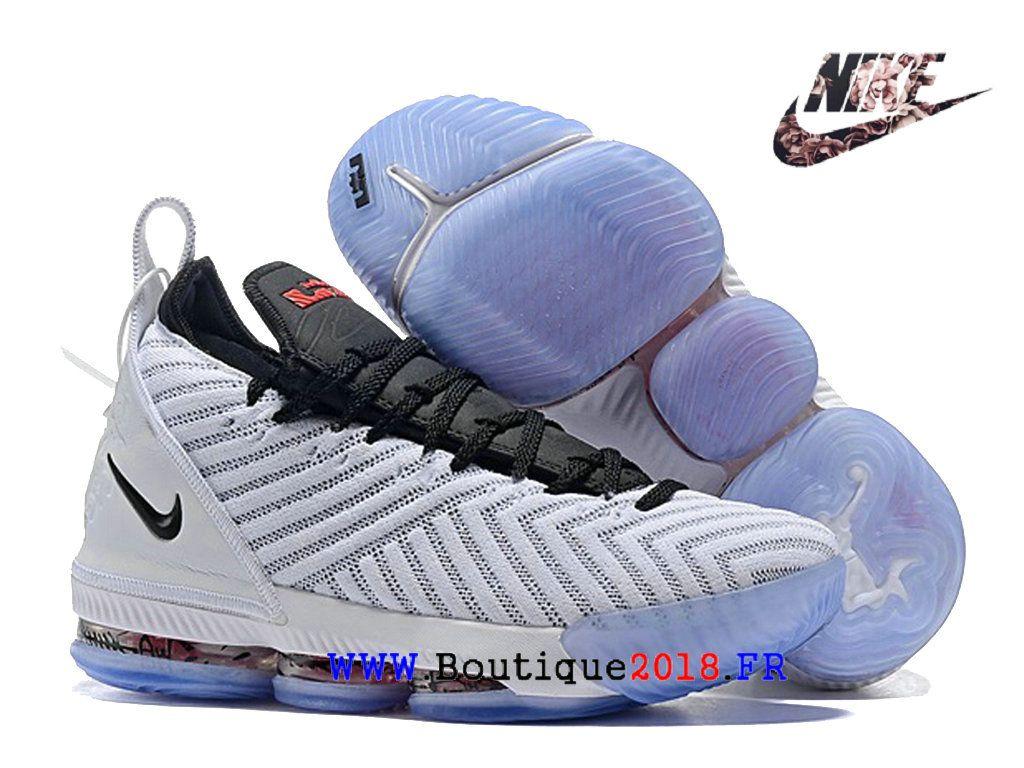 los angeles a0388 3232d Les sports Chaussures De BasketBall Nike LeBron 16 Pas Cher Homme Noir blanc  AO2588 I131-1810160921