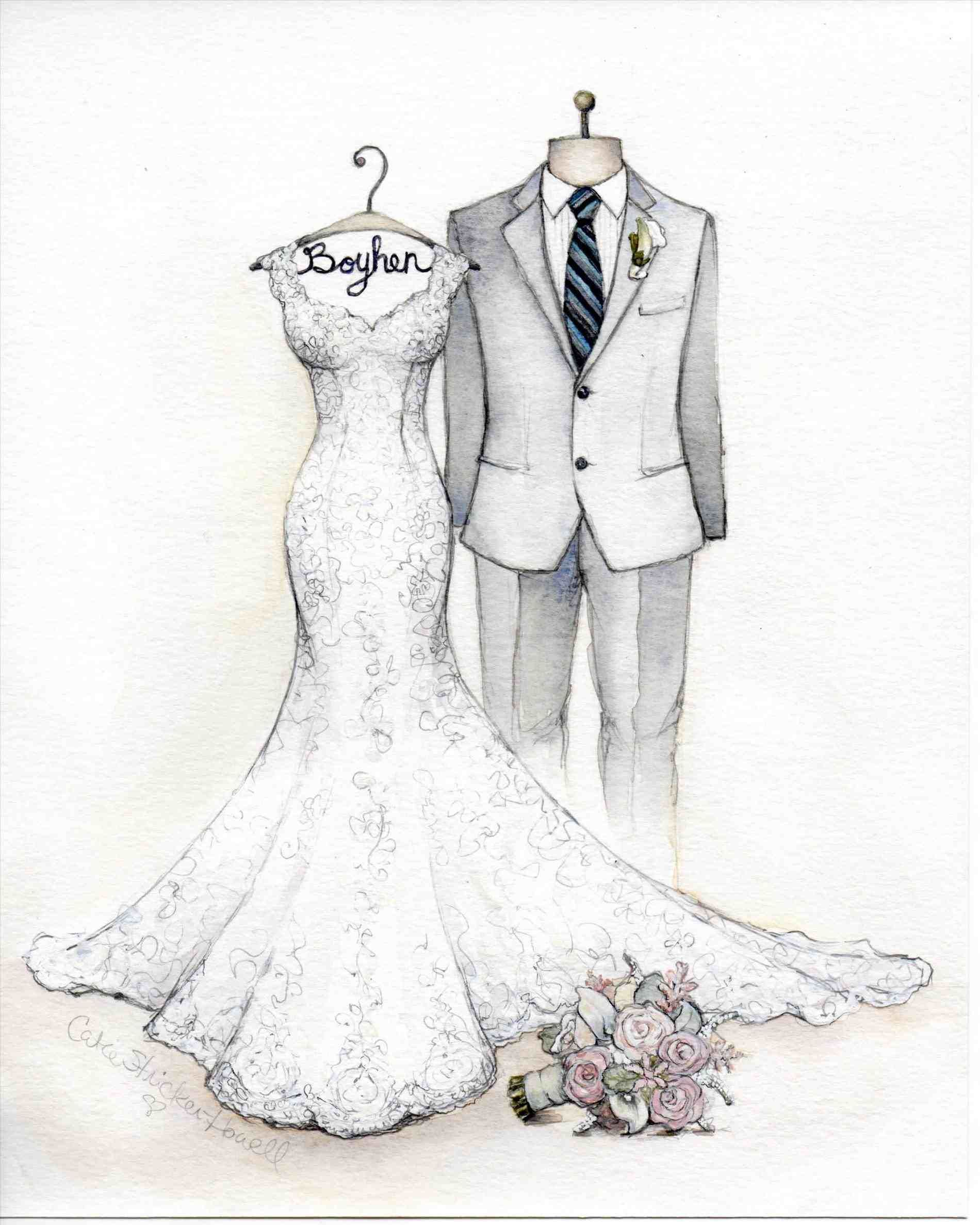 Vera Wang Wedding Dress Sketches
