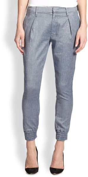 Love this: Chambray Cropped Taperedleg Pants @Lyst