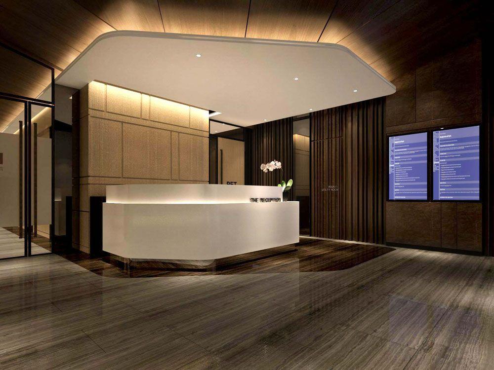 Mri pet center interior design reception hkl pinterest for Arquitectura de oficinas modernas