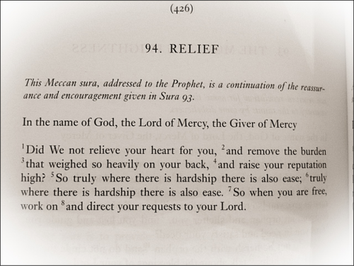 Allah relieves us of burdens.
