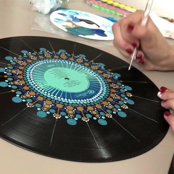 Mandala Plate Painting