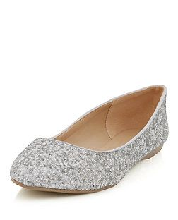 12d4912ec16 Silver (Silver) Wide Fit Silver Glitter Pointed Pumps