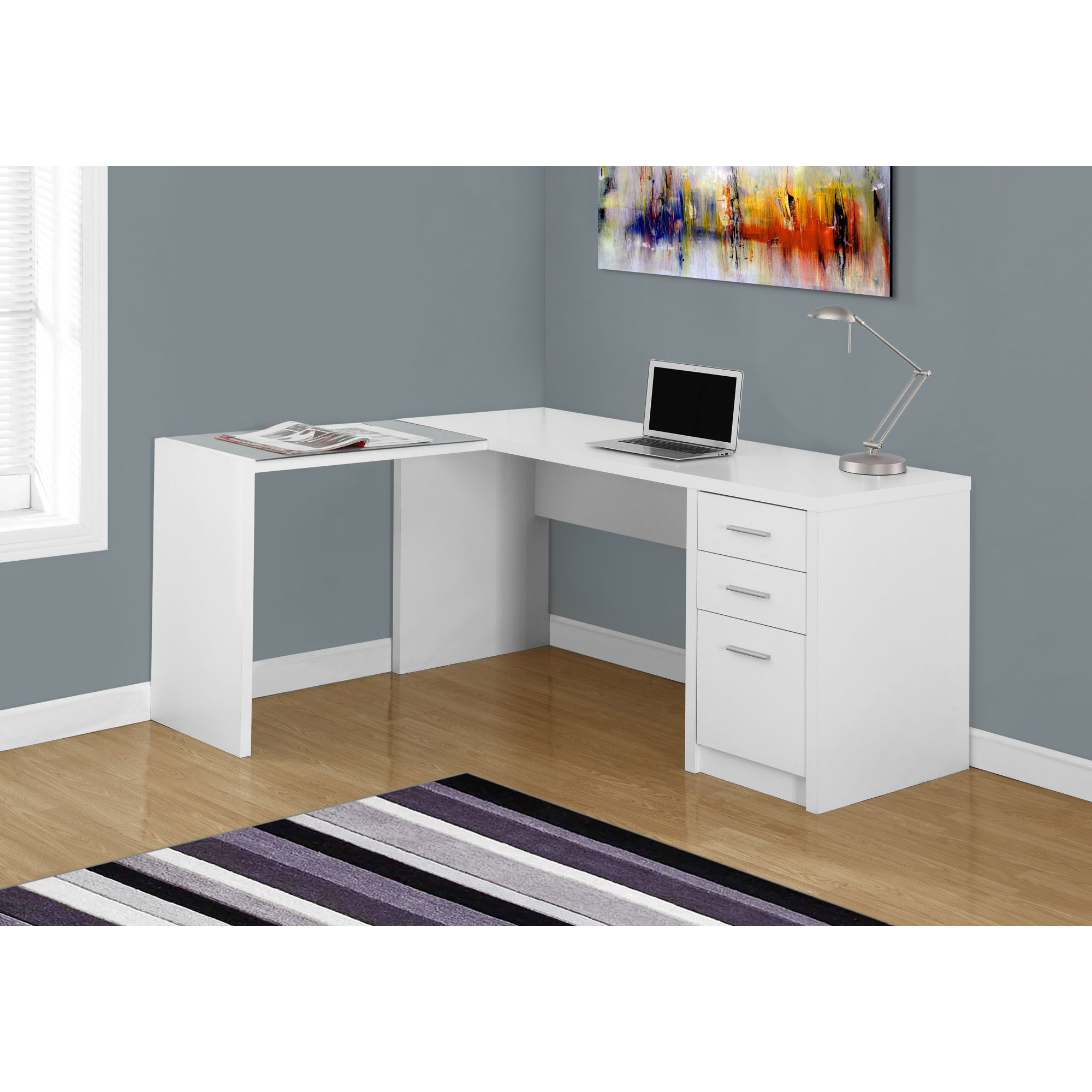 poppin l height with loft right shaped base handed desk images legs adjustable facing white
