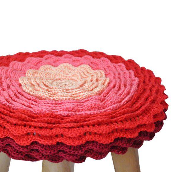 Capa De Croche Para Banco Redondo Com Imagens Capa De Croche