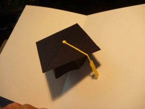 Graduation Pop Up Card 3d Cap Pop Up Card Templates Pop Up Cards Paper Pop