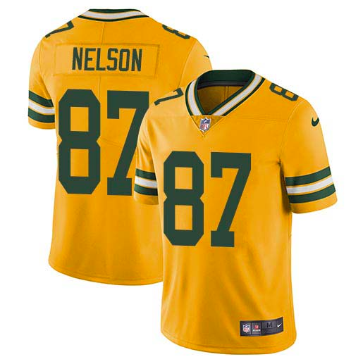 best loved 05d7f dbce3 Green Bay Packers Jersey - Jordy Nelson Yellow Limited Rush ...