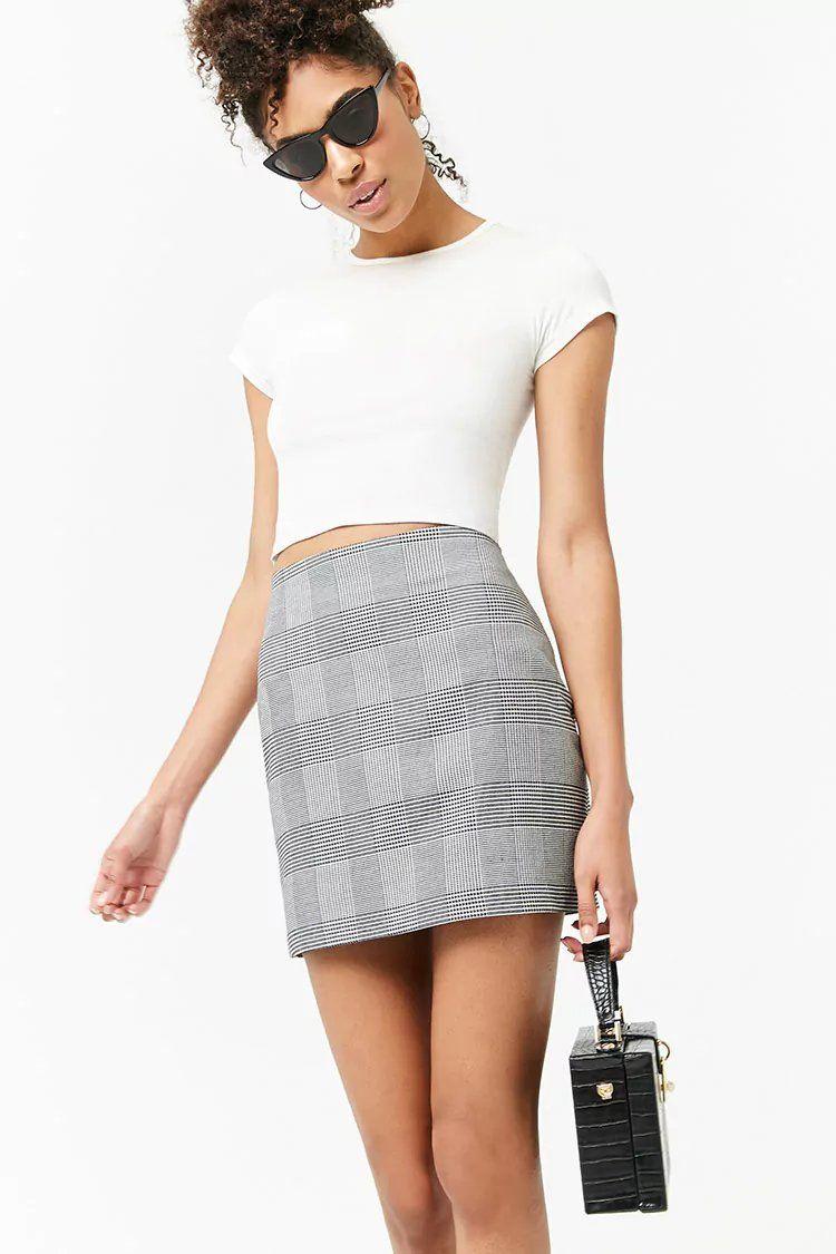 59ea0bdf9ffc Glen Plaid Mini Skirt | forever 21| the latest | Plaid mini skirt ...