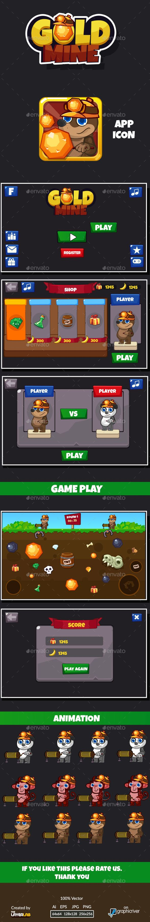 Gold Mine Game Gui Game Gui Kit Games Lab Games