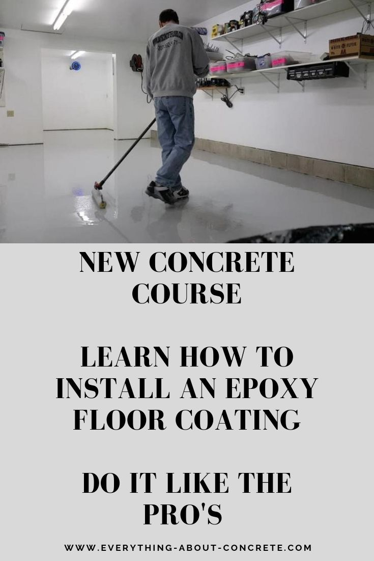 How to Install an Epoxy Floor Coating Floor coating