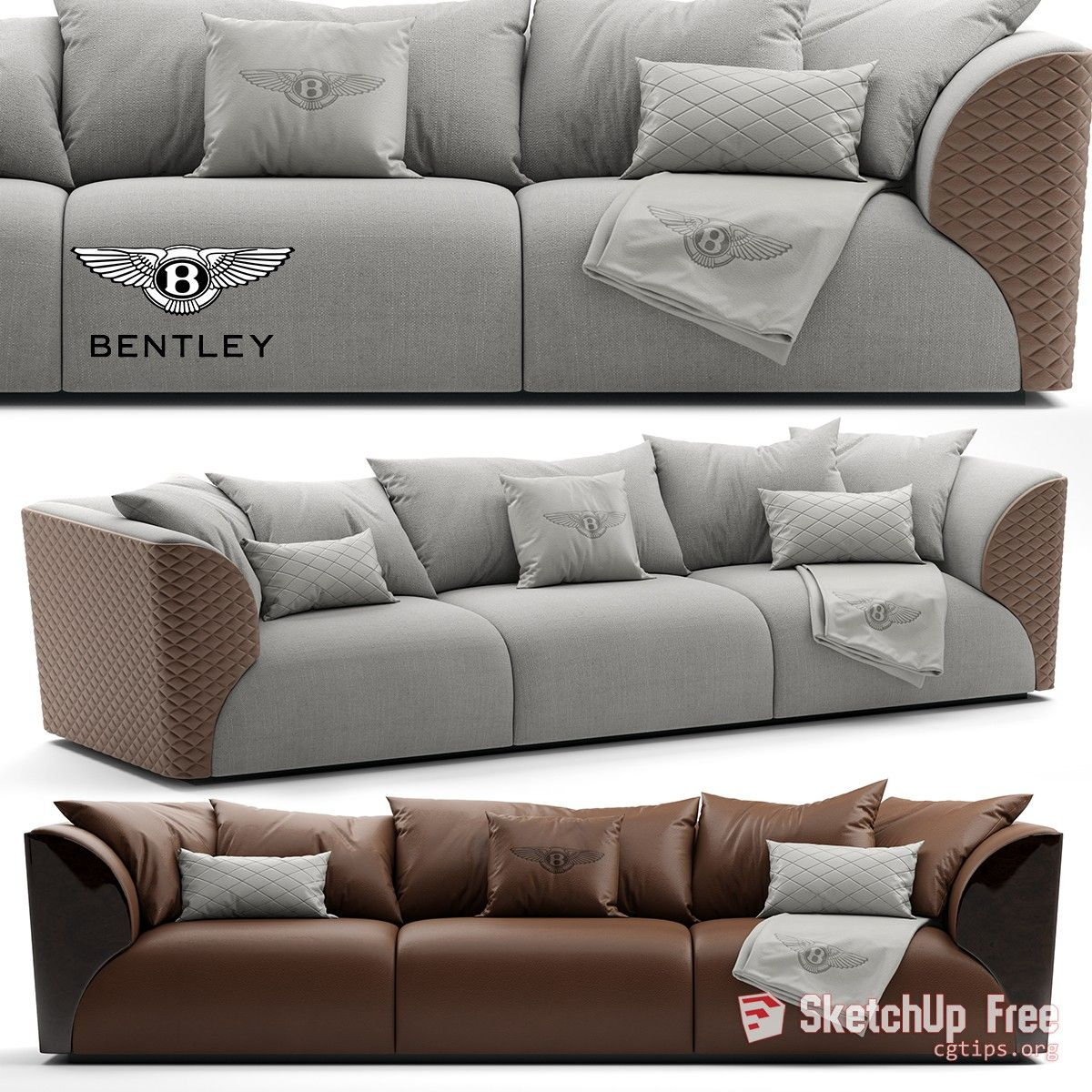 2132 Sofa Sketchup Model Free Download