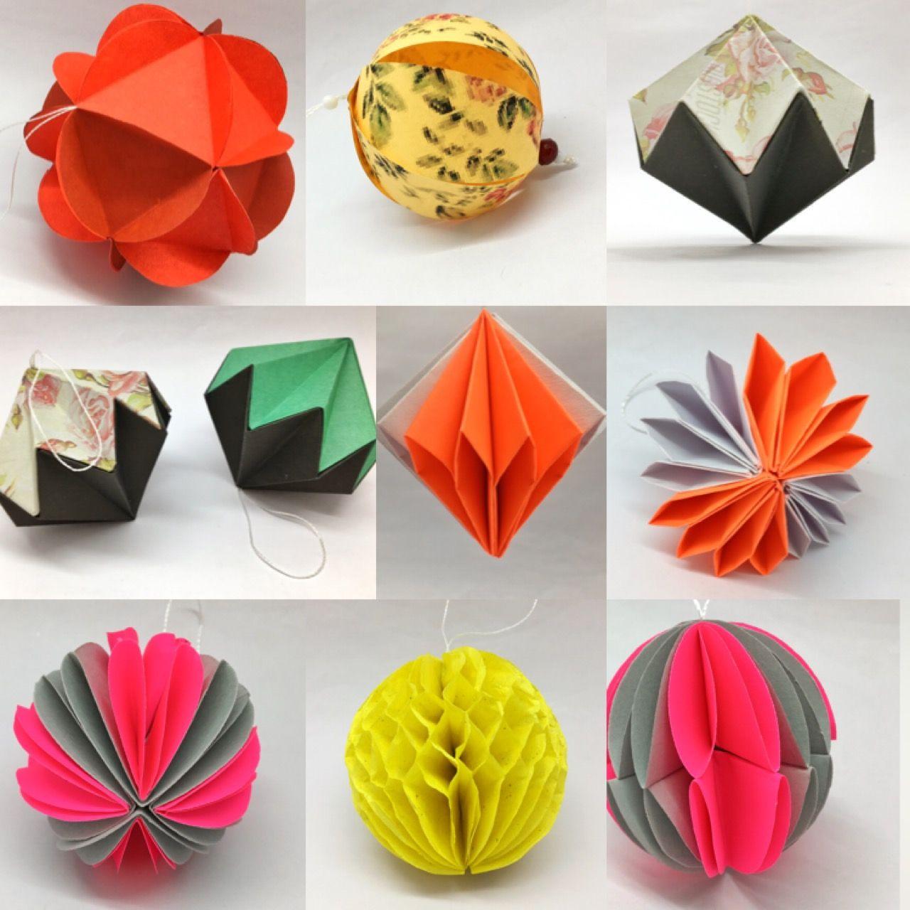 3d Paper Ornaments Paper Ornaments Paper Ornaments Diy Paper Art Craft