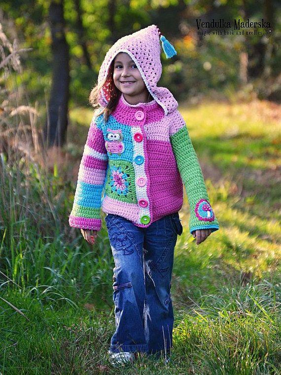 Felpa con cappuccio brillante, divertente e fresco per le bambine :-) Everyy bambina avrà un aspetto così bella che indossa questo cardigan divertente,