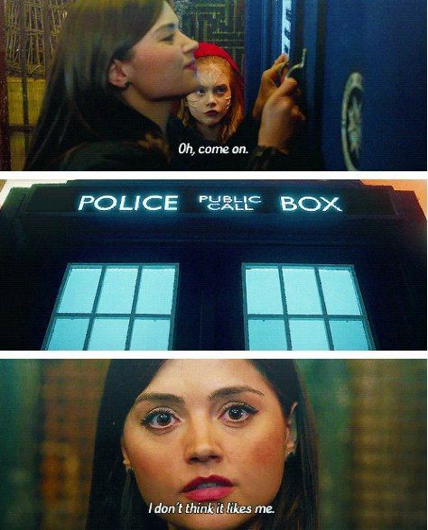 Why doesn't the Tardis like her?! Clara Oswin Oswald. Doctor Who.