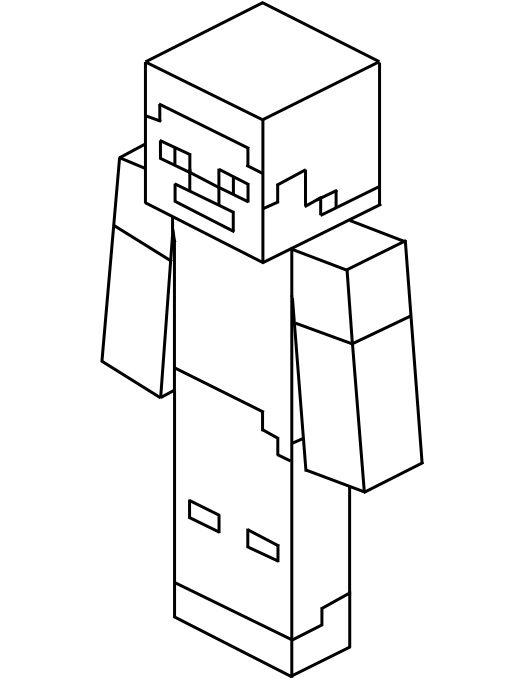 Kleurplaten Minecraft Steve.Kleurplaten Minecraft Steve Brekelmansadviesgroep