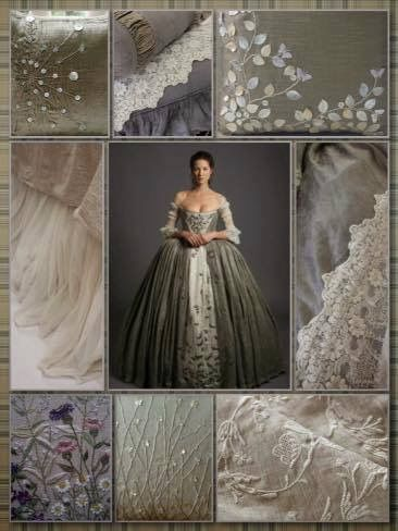 Claire Fraser And The Fabrics In Her Wedding Dress