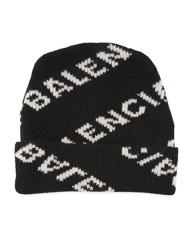 3deb3e196f7ab4 BALENCIAGA MEN'S INTARSIA LOGO WOOL HAT. #balenciaga # | Balenciaga ...