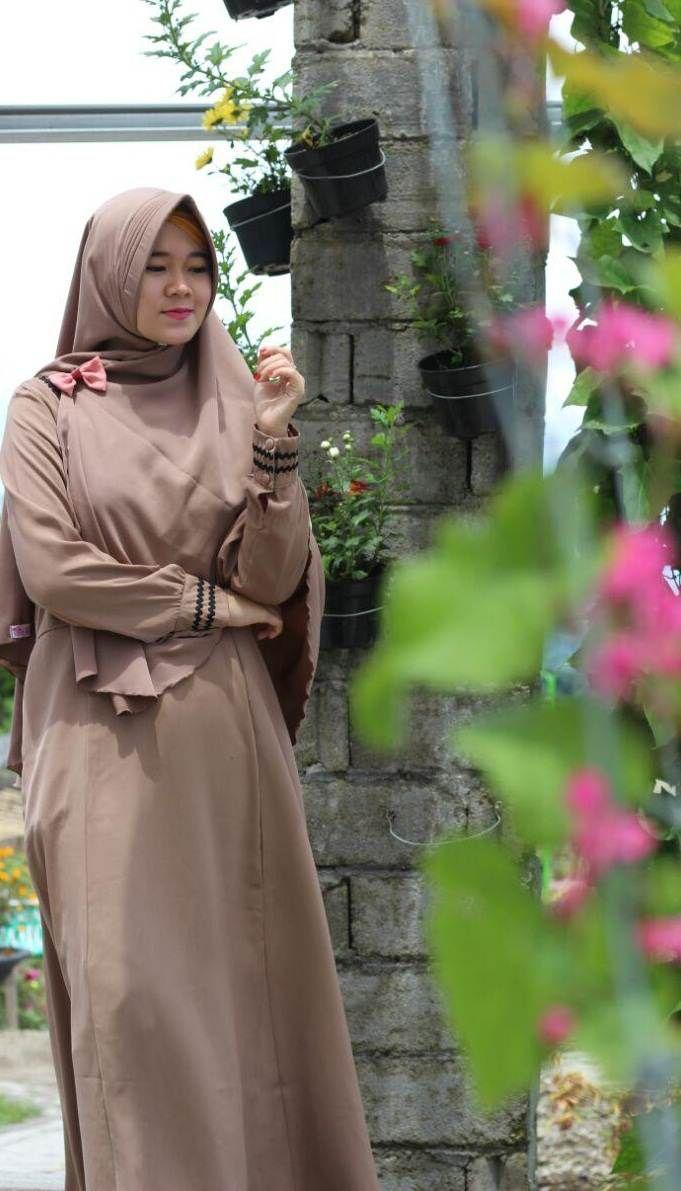 Gamis Syari Adzkia Manisqu Mocca Best Seller Ke Palembang  Wanita