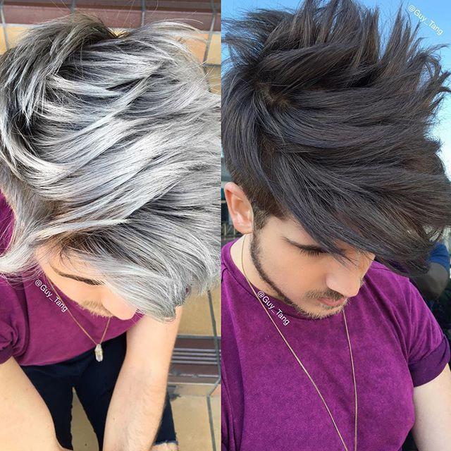 Hairbesties I Love Both Shades I Did On Joey Grey Hair Color Men Grey Hair Dye Brown Hair Men