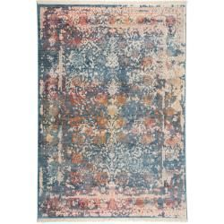 Photo of benuta carpet Safira blue 100×156 cm – vintage carpet in used look benuta