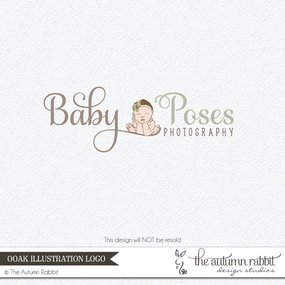 Premade newborn photography logo design one of by theautumnrabbit 85 00