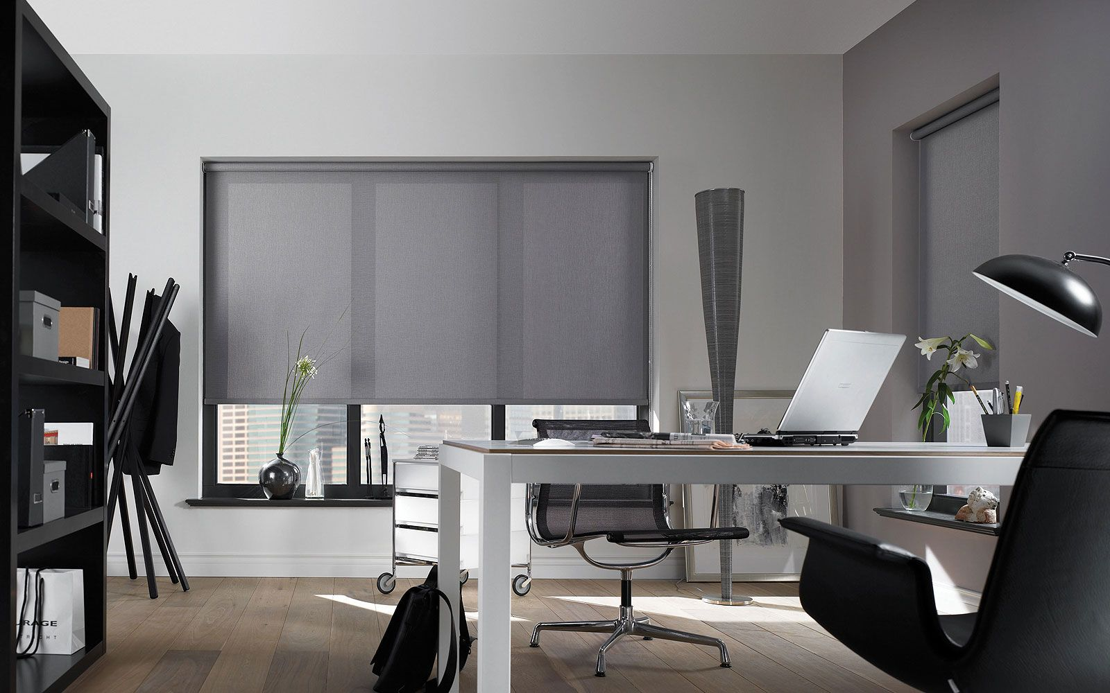 design pinterest office contractor grey interior pin blinds roller