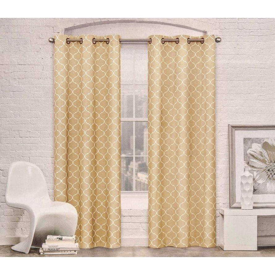 grommet insulated navy khaki drapes tan thermal top pattern blue trellis curtain curtains