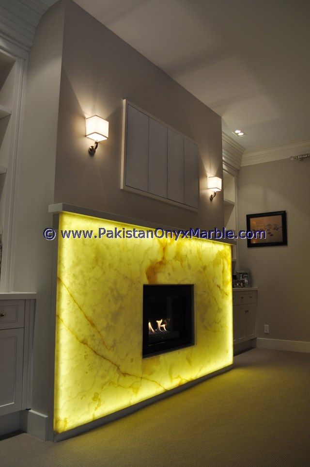 backlit onyx fireplaces backlighting onyx fireplaces surrondings ...