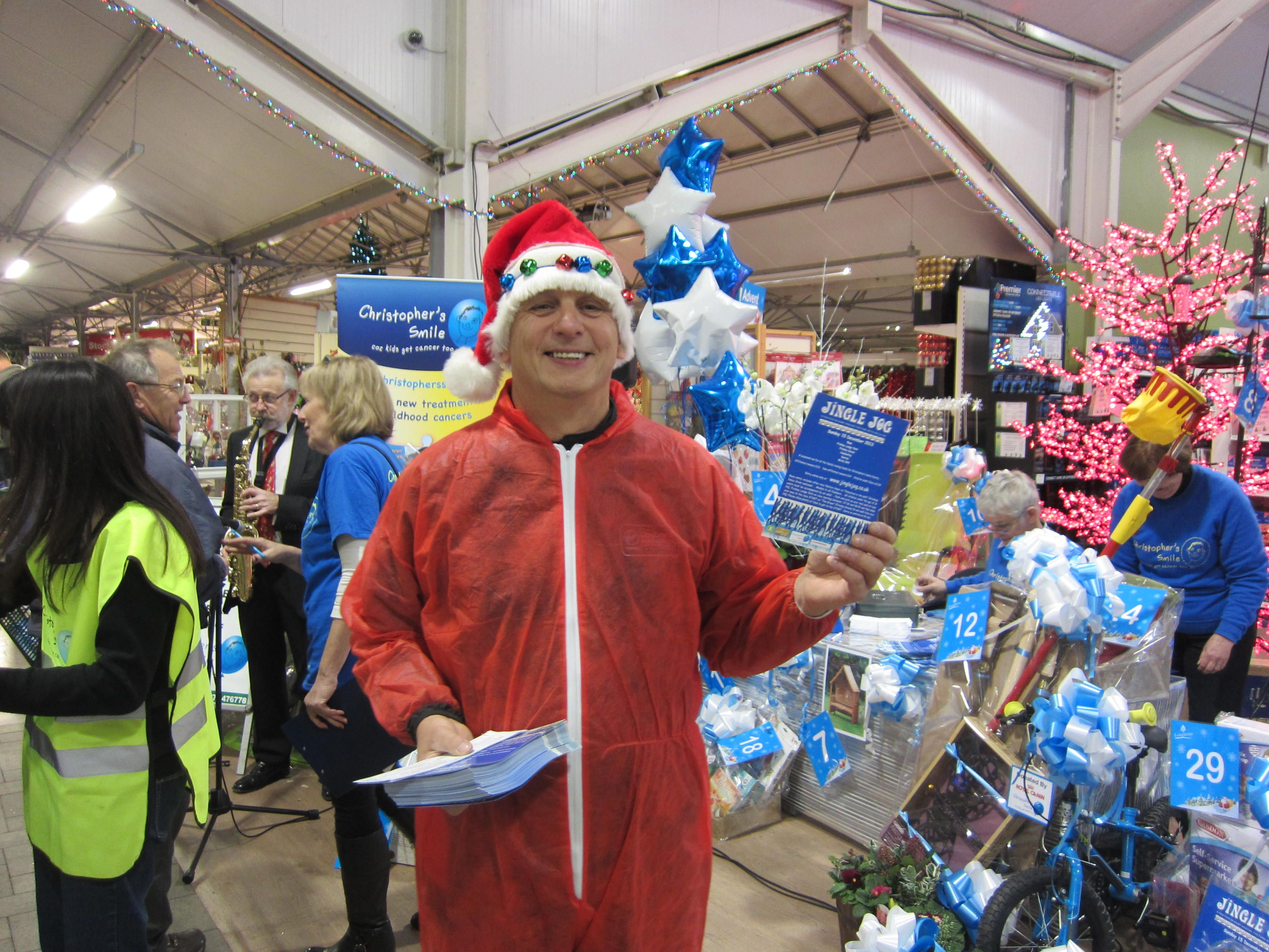 Getting ready for the Santa run! Longacres Christmas Open Evening 2013