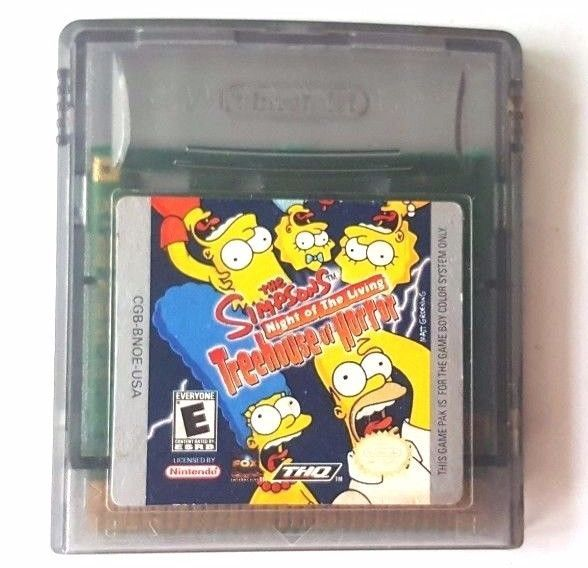 Gameboy Color Game Plays GBA SP SIMPSONS NIGHT OF THE LIVING ...