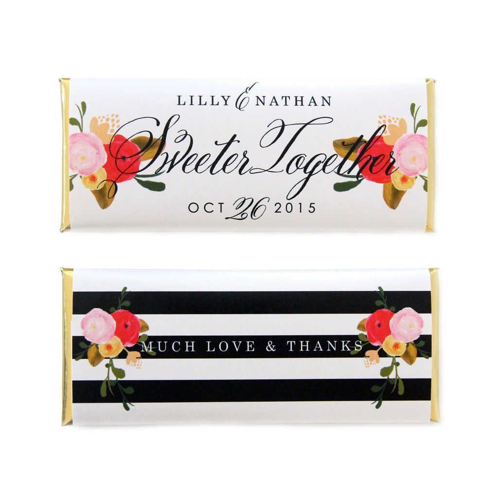 Roses and Stripes Wrapper | Personalized candy bars, Personalized ...