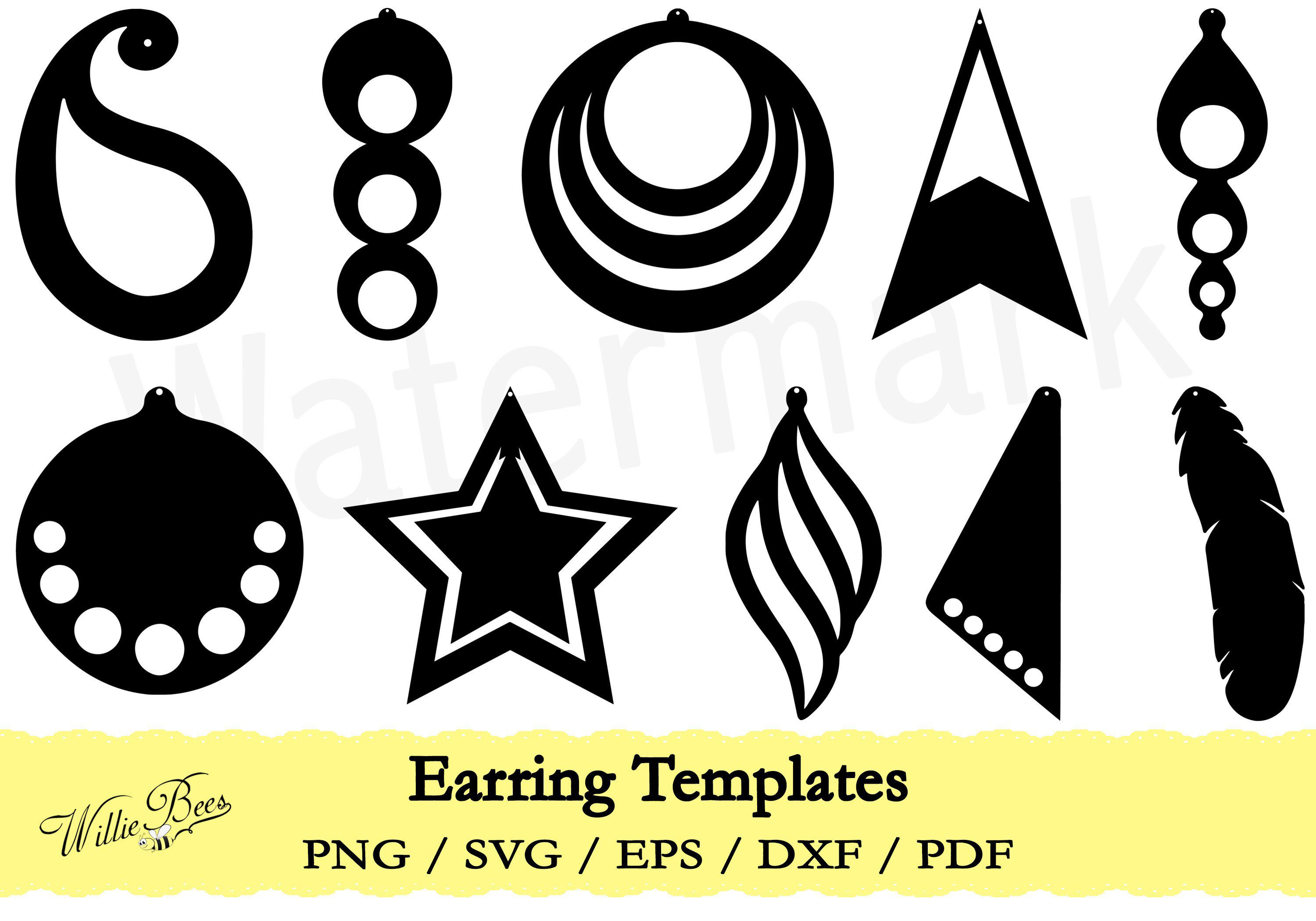Feather Earring Template Svg Earring Template Cut File