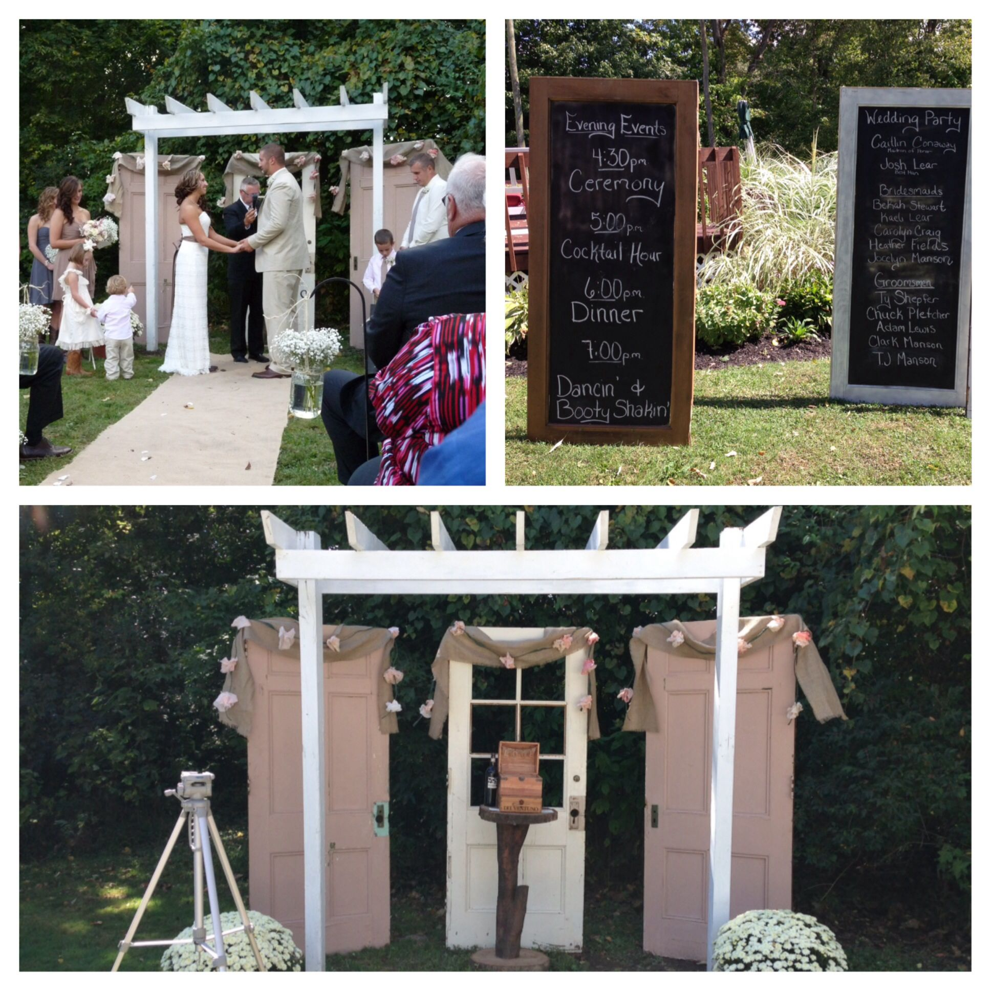 Outdoor Wedding Ceremony Doors: Incorporate Old Doors Into Your Ceremony As Back Drops And