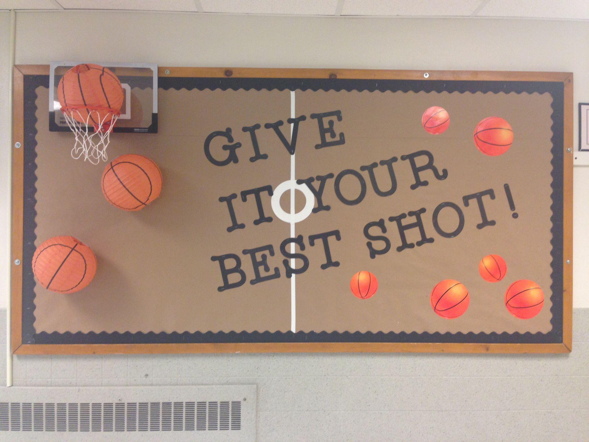 Basketball Theme Bulletin Board Sports Theme Classroom Sports Classroom Back To School Bulletin Boards