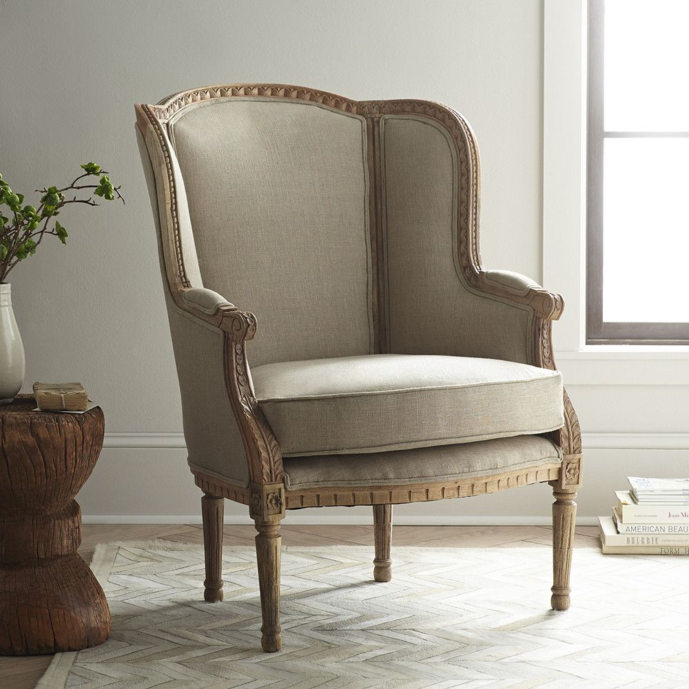 Wingback Arm Chair Wisteria; formal sitting room