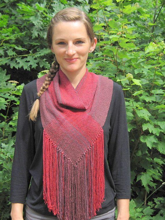 Raja handwoven infinity scarf by janirosehandwovens on Etsy, $65.00