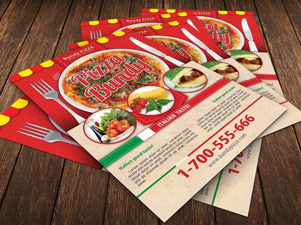 cool 19 Nice Pizza Flyer PSDs Poster Pinterest Fonts