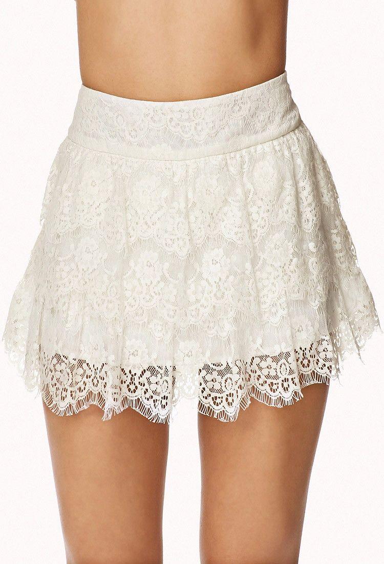 Crochet Tiered Layer Skort - Skirts - 2072981148 - Forever 21 UK