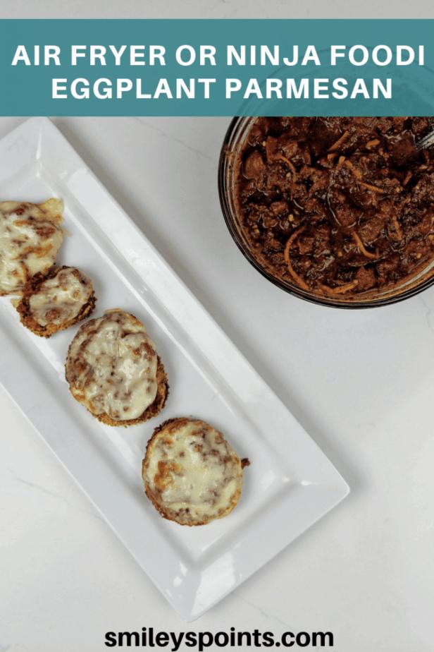 Air Fryer Or Ninja Foodi Eggplant Parmesan Recipe in