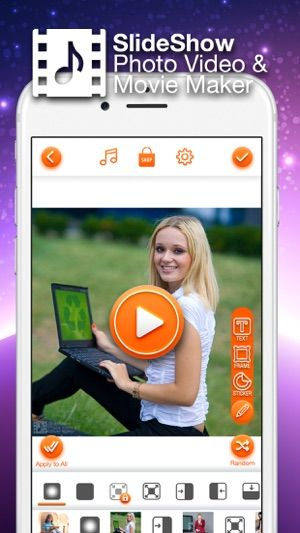 SlideShow PhotoVideo & Movie Maker with Music on the