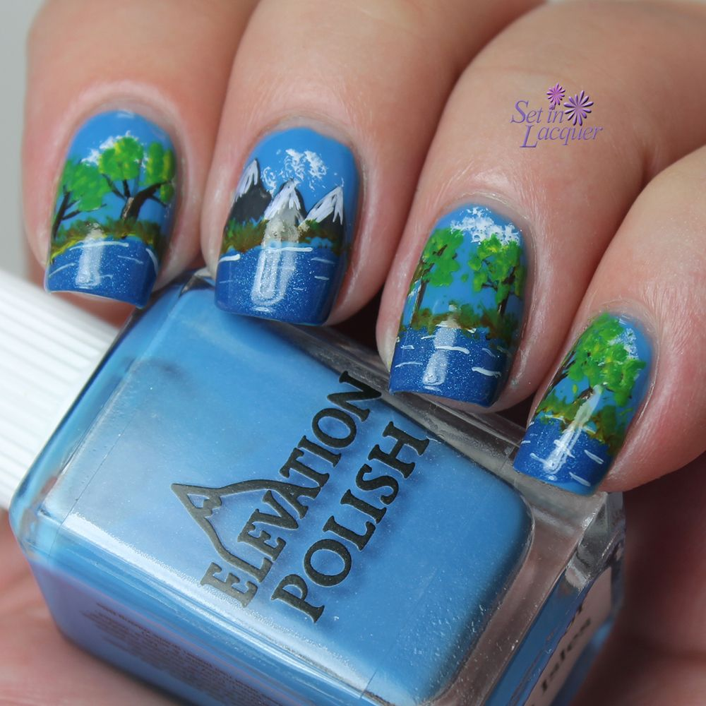 Awesome Mountain Nail Art Nails Pinterest