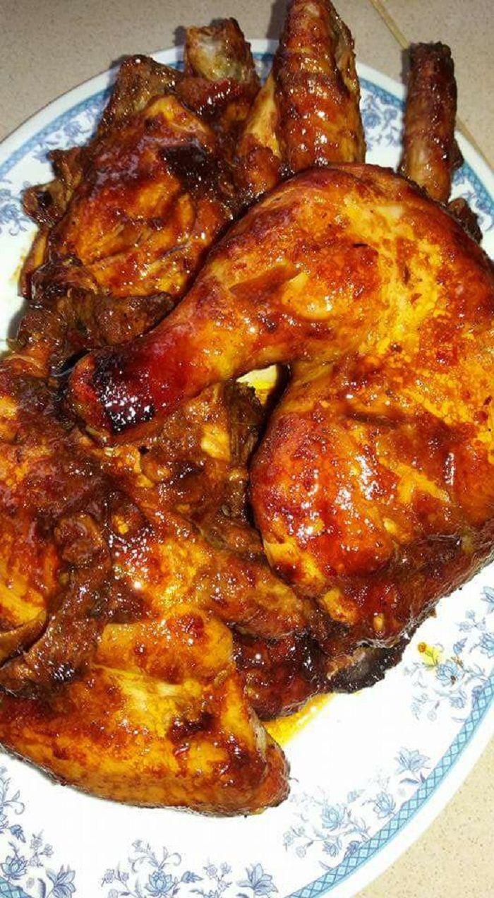 Resepi Ayam Panggang Madu Lada Hitam Versi Oven Menjilat Jari