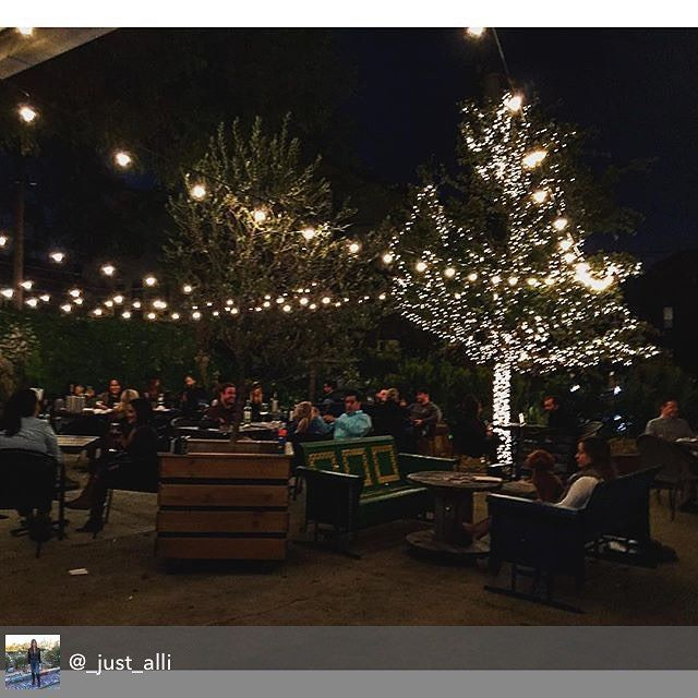 Look at those LIGHTS! #holiday #patio #houston