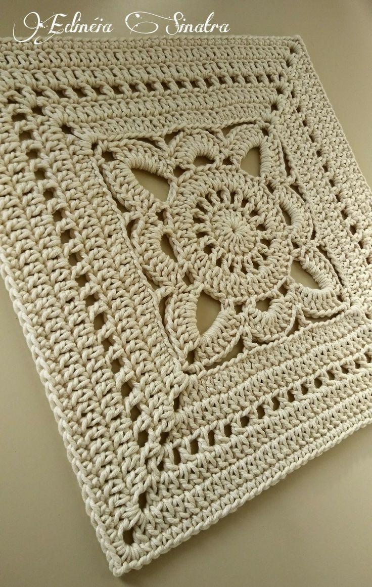 Photo of Crochet square 42x42cm #barroconatural thread 10 – my ideas – my blog