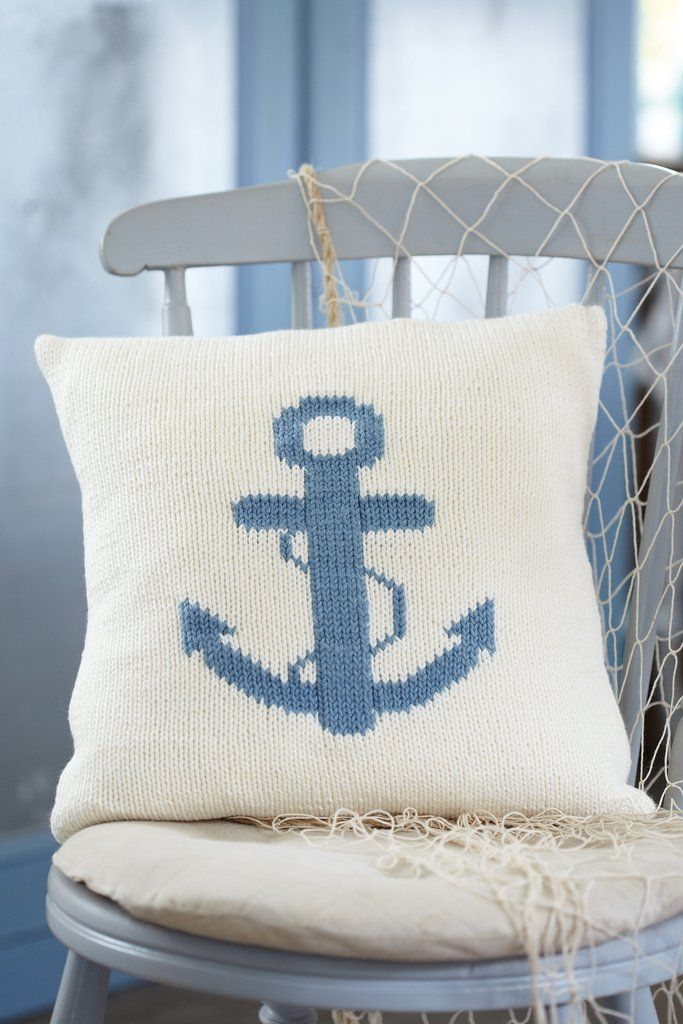 Anchor Cushion Cover Knitting Pattern Home Decor Inspiration