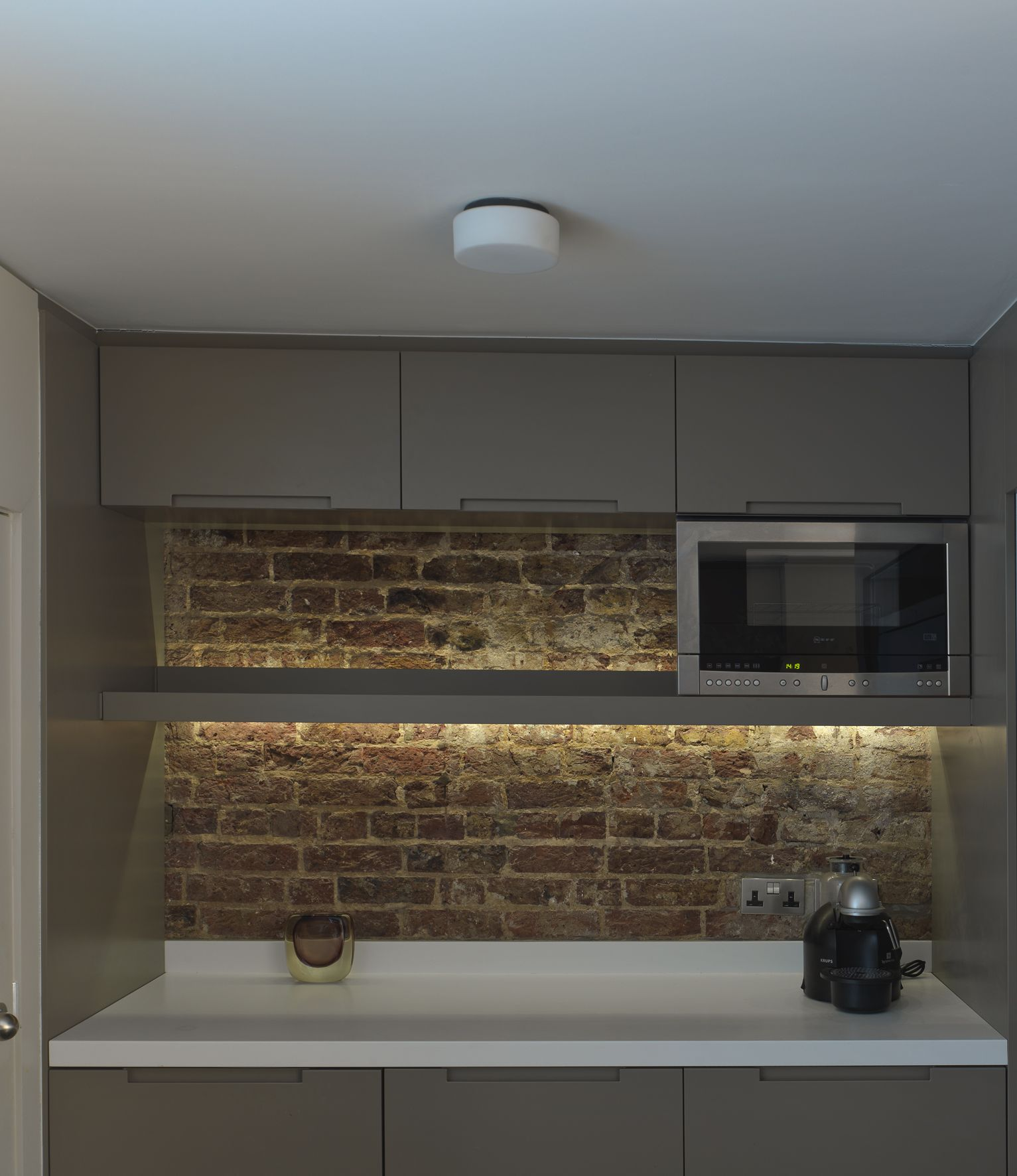 Victorian Basement: Victorian House: Basement Kitchen Wall With Exposed